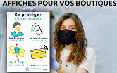 Affiches à imprimer «Se Protéger» pour les boutiques en période de Covid19